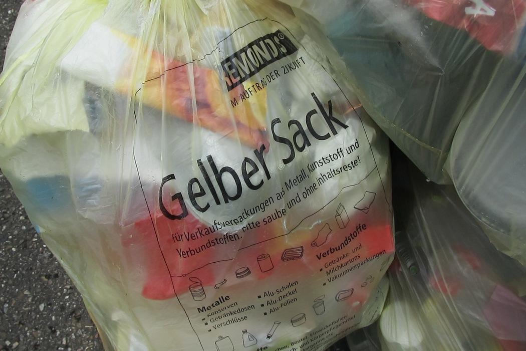Mülltrennung - Der gelbe Sack