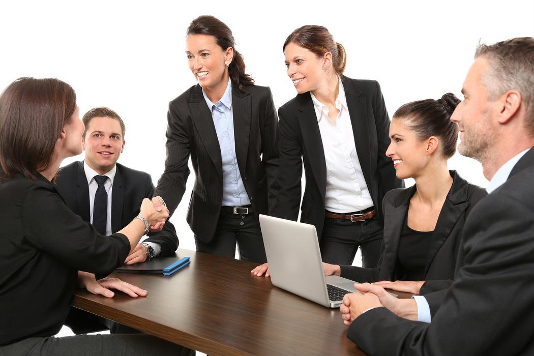 Positives Betriebsklima - Meeting, Respekt, Business