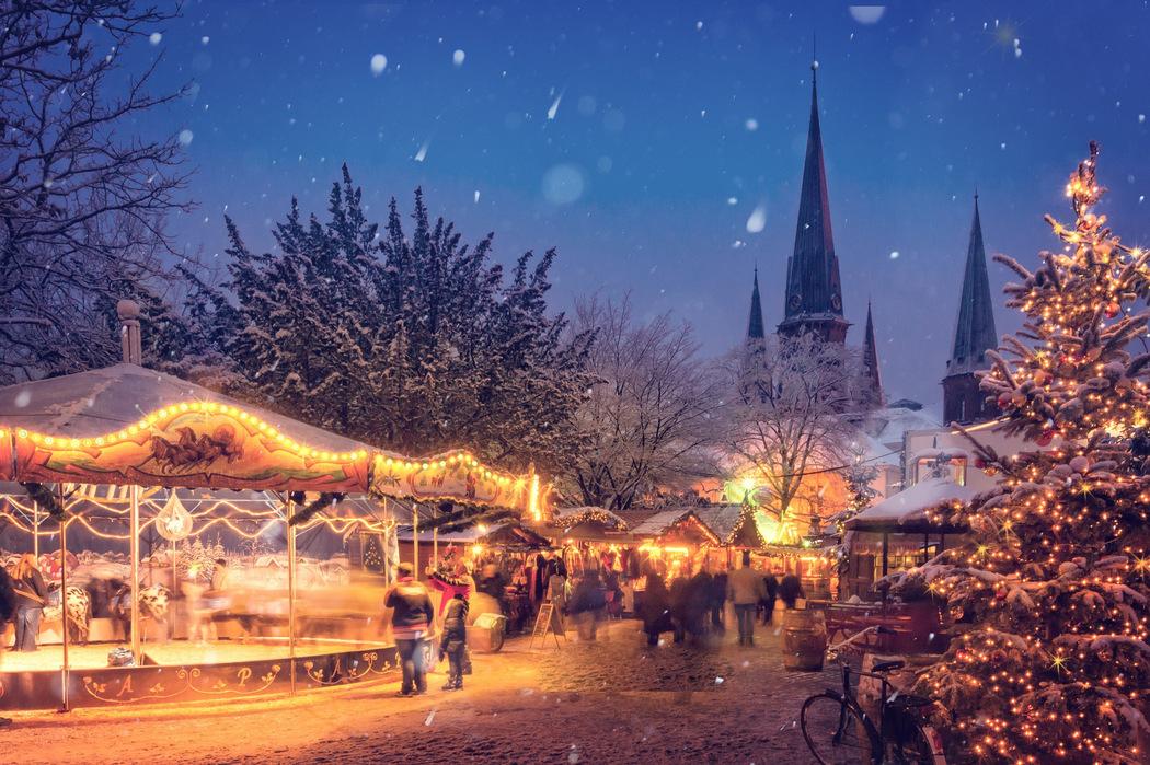 Weihnachtsfeier auf dem Weihnachtsmarkt
