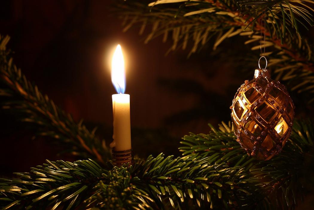 Weihnachtsbaumbeleuchtung - Echte Kerzen