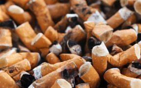 Zigarettenverbot - umweltschädliche Zigarettenstummel