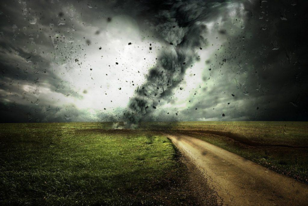 Sturm auf dem Land